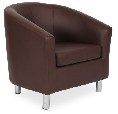 Tritium Tub Chair In Brown 45 Side View