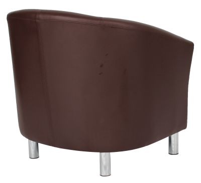 Tritium Tub Chair In Brown Back Side View