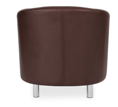 Tritium Tub Chair In Brown Back View