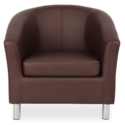Tritium Tub Chair In Brown Face View