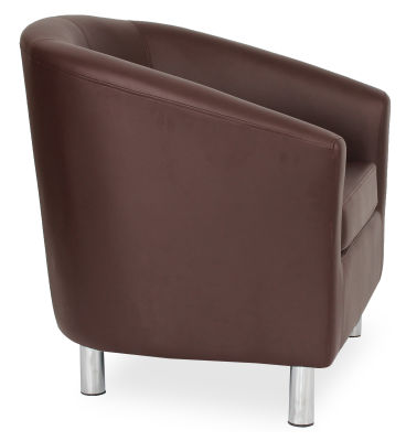 Tritium Tub Chair In Brown Side View