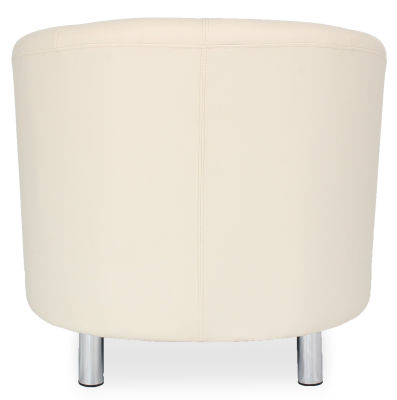 Tritium Tub Chair In Cream Back View