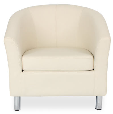 Tritium Tub Chair In Cream Face View