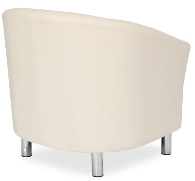 Tritium Tub Chair In Cream Side Back View