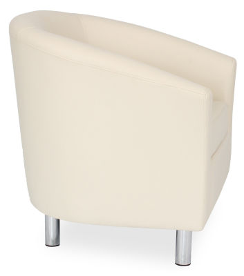 Tritium Tub Chair In Cream Side View