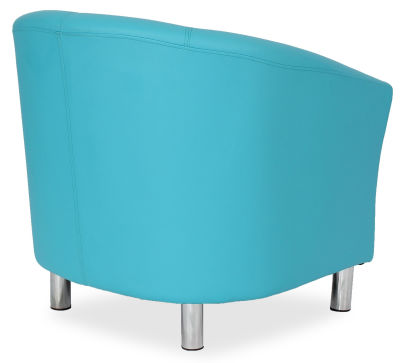 Tritium Tub Chair In Light Blue Side Back View