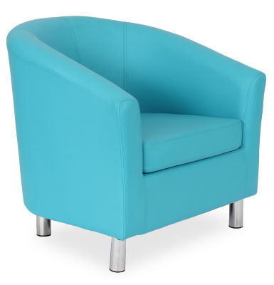 Tritium Tub Chair In Light Blue 45 Side View