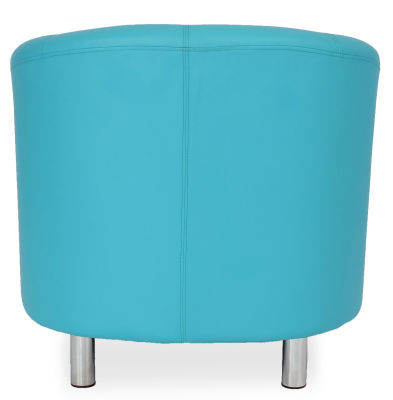 Tritium Tub Chair In Light Blue Back View