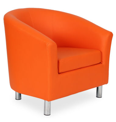 Tritium Tub Chair In Orange 45 Side View