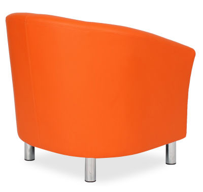 Tritium Tub Chair In Orange Back Side View
