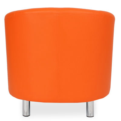 Tritium Tub Chair In Orange Back View