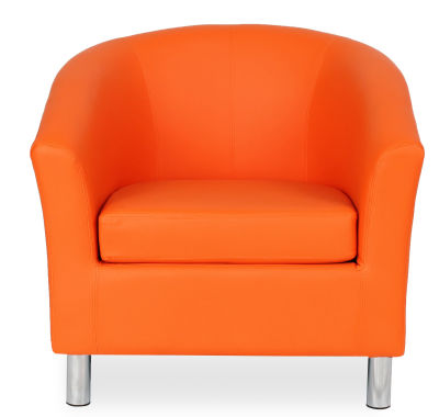 Tritium Tub Chair In Orange Face View