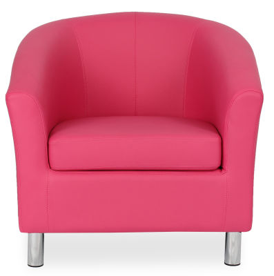 Tritium Tub Chair In Pink Face View