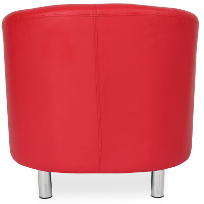 Tritium Tub Chair In Red Back View