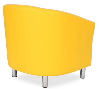 Tritium Tub Chair In Yellow Side Back View