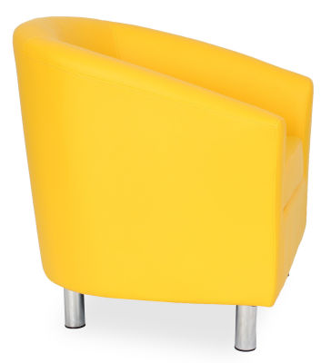 Tritium Tub Chair In Yellow Side View