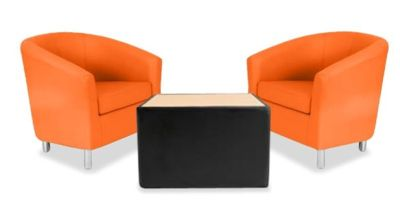 Tritium Tub Chair Bundle Deal Orange