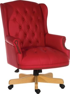 Chairman Rouge Executive Chair Front Angle View