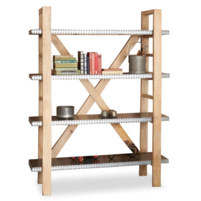 Sora 4-Tier Acacia Open Bookcase