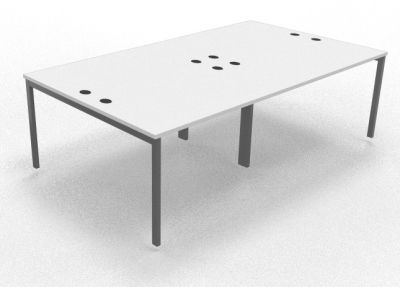 Sequest Four Person Table White 2400