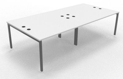 Sequest Four Person Table White 2800