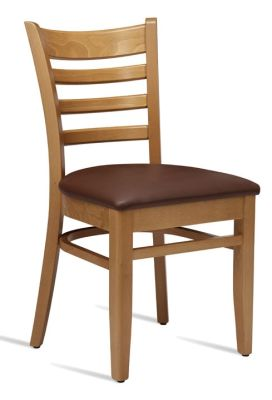 Devon Wooden Dining Chair With A Light Oak Frame And Brown Leather Seat