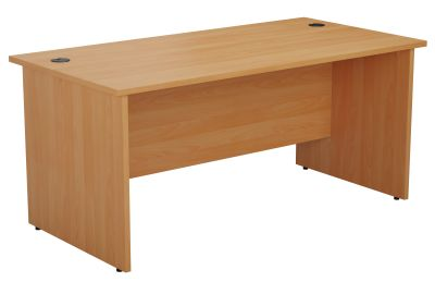 Zone Panel Side Desks In Beech