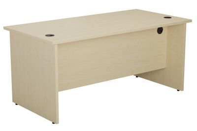 Zone Rectangular Desk Inm Maple Angle View