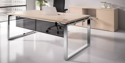 Prestige Execurive Desk With A Modesty Panel Mood Shot