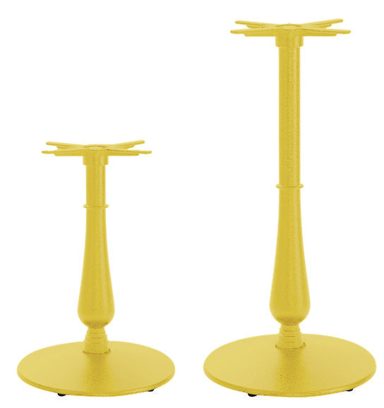 An image of Anton Large Coloured Ornamental Table Bases - Satin Finish - di...