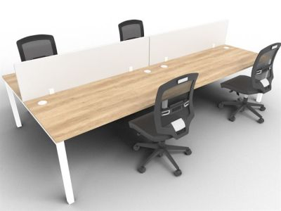 4 Person - Screens - Nebraska Oak + White - With Chairs