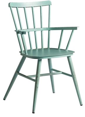 Claudia Light Blue Retro Arnchair