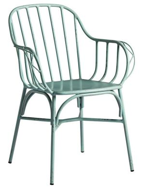 Jordan Retro Chair In Disressed Light Blue Finish