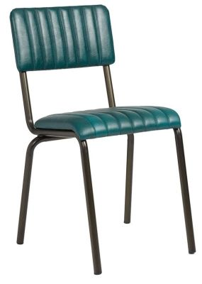 Awe Inspiring Kilo Vintage Ribbed Leather Chair Teal Download Free Architecture Designs Scobabritishbridgeorg