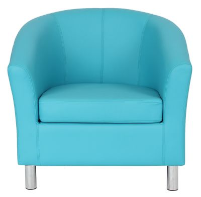 Ten Colour Tub Chair In Light Blue Front Facing