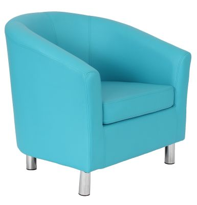 Ten Colour Tub Chair In Light Blue Angle Sholt