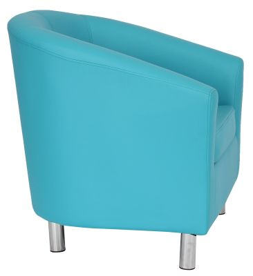 Ten Colour Tub Chair In Light Blue Side View