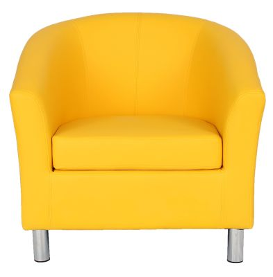 Ten Colour Tub Chair In Yellow Front View