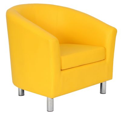 Ten Colour Tub Chair In Ywlllow Angle View