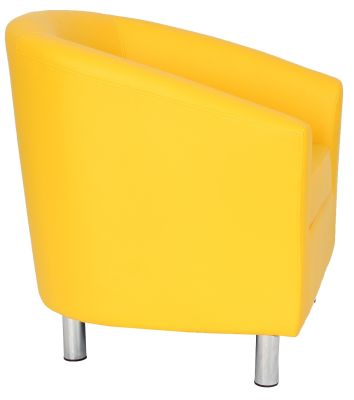 Ten Colour Tub Chair In Yellow Side View