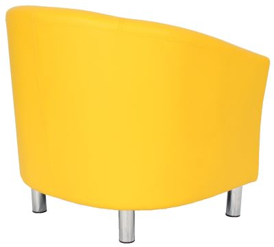 Ten Colour Tub Chairs In Yellow Rear Angle View