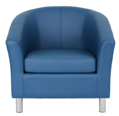 Ten Colour Tub Chair In Navy Blue Front View
