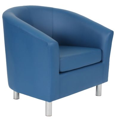 Ten Colour Tub Chair In Navy Blue Angle View