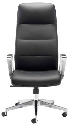 Dallas Black Leather Eexecutive Chair Front View