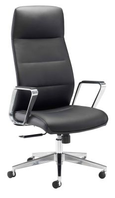 Dallas Black Leather Executive Chair Front Angle View