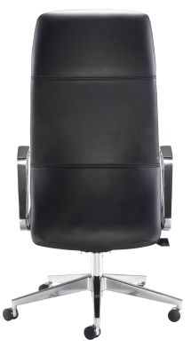 Dallas Black Leather Executive Chair Rear Vierwe