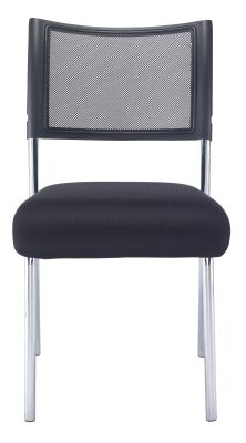 Argent Conference Chair With A Chrome Frame Front View
