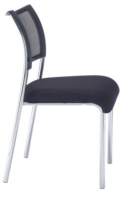 Argent Conference Chair Wit A Chrome Frame Side Voew