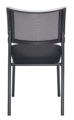 Argent Chair With A Black Frame Rear Aview