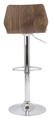 Atomic High Stool In Walnut Rear View